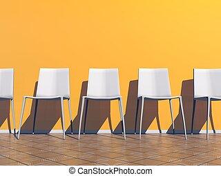δωμάτιο , render, - , αναμονή , πορτοκάλι , 3d