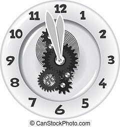 δώδεκα , άσπρο , πέντε , πρακτικά , clock.