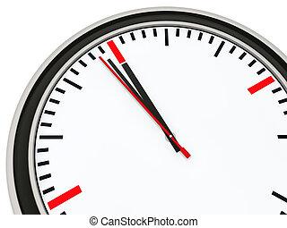δώδεκα , ρολόι , λεπτό , εις