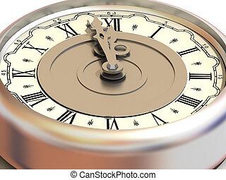 δώδεκα , clock., ακριβής ώρα