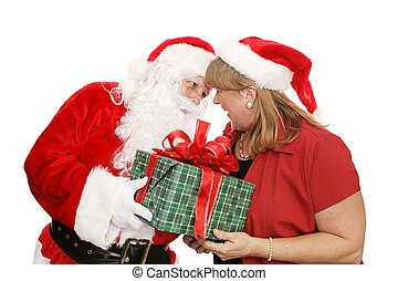 δώρο , για , κυρία , santa