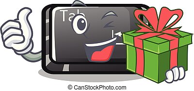 δώρο , κουμπί , επισύναψα , ετικέτα , πληκτρολόγιο , γελοιογραφία
