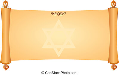 εβραίαn, f, sing.0 , σύμβολο , περγαμηνή
