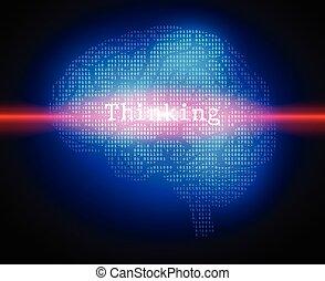 εγκέφαλοs , γενική ιδέα , φόντο , δημιουργικός