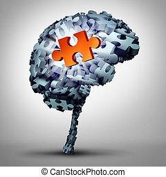 εγκέφαλοs , γρίφος , διάλυμα