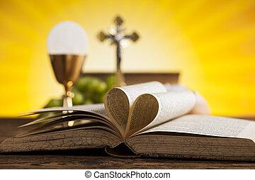 εγώ , αγάπη , θρησκεία , για , χριστιανισμός , φόντο