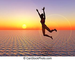 εγώ , πιστεύω , εγώ , μπορώ , πετάω