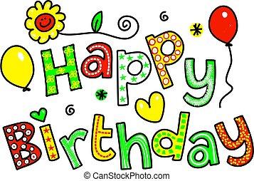 εδάφιο, γενέθλια, χαιρετισμός, ευτυχισμένος