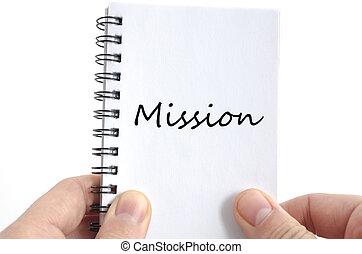 εδάφιο , γενική ιδέα , αποστολή