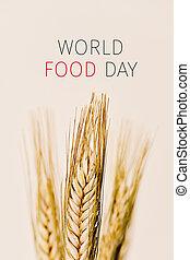 εδάφιο , κόσμοs , τροφή , ημέρα , και , σιτάρι , αιχμηρή ράβδος