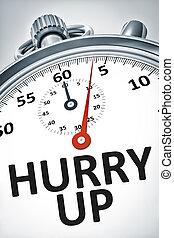 εδάφιο , πάνω , χρονόμετρο , βιασύνη