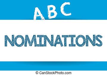 εδάφιο , σήμα , εκδήλωση , nominations., σχετικός με την σύλληψη ή αντίληψη , φωτογραφία , suggestions, από , κάποιος , ή , κάτι , για , ένα , δουλειά , θέση , ή , βραβείο