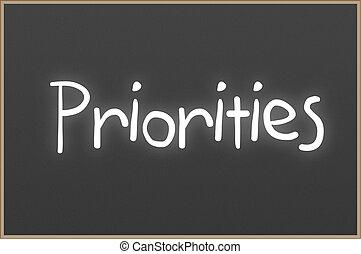 εδάφιο , chalkboard , priorities