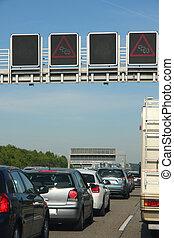 εθνική οδόs , γερμανία , κυκλοφοριακή συμφόρηση , άμαξα αυτοκίνητο