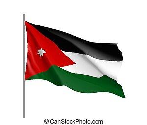 εθνική σημαία , εικόνα , ρεαλιστικός , μικροβιοφορέας , ιορδανία