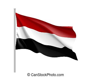 εθνική σημαία , εικόνα , ρεαλιστικός , μικροβιοφορέας , υεμένη