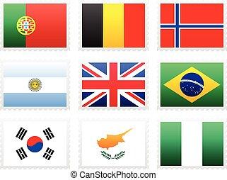 εθνική σημαία , θέτω