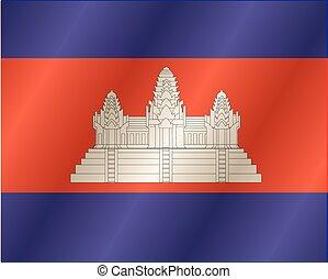 εθνική σημαία , καμπότζη