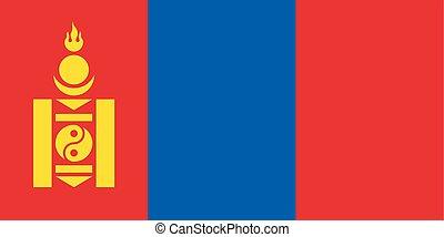 εθνική σημαία , μογγολία