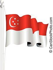 εθνική σημαία , σινγκαπούρη