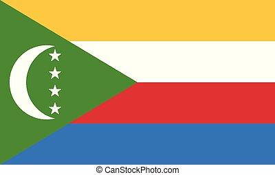εθνική σημαία , comoros