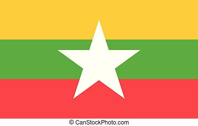 εθνική σημαία , myanmar