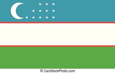 εθνική σημαία , uzbekistan