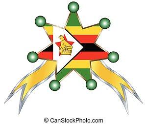 εθνικός , ζιμπάμπουε , μετάλλιο , σημαία