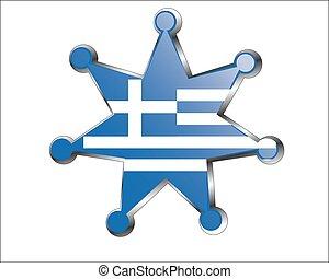 εθνικός , μετάλλιο , σημαία , ελλάδα