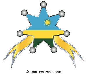 εθνικός , ρουάντα , μετάλλιο , σημαία