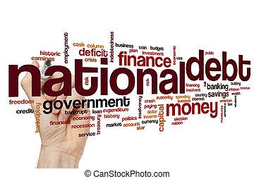 εθνικός , χρέος , λέξη , σύνεφο