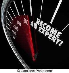 ειδικός , ταχύμετρο , εμπειρία , γρήγορα , μαθαίνω , γίνομαι , ταχύτητα , κερδίζω