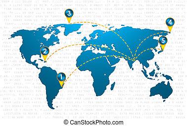 ειδικό , μπλε , μικροβιοφορέας , χάρτηs , εικόνα , με , καρφίτσα , δείκτης