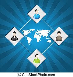 ειδικό , ad;, φόντο , με , επιχειρηματίας , απεικόνιση