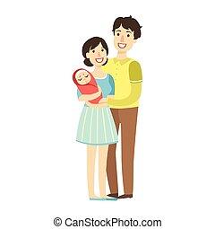 ειδών ή πραγμάτων , σειρά , νέος , εικόνα , νεογέννητος , όπλα , γονείς , παιδί , ευτυχισμένος , τρυφερός