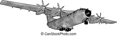 εικόνα , άσπρο , γριά , μεγάλος , βομβαρδιστικό , μικροβιοφορέας , φόντο.