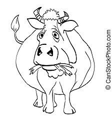 εικόνα , γελοιογραφία , αγελάδα