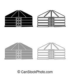 εικόνα , γκρί , πόρτα , κτίριο , θέτω , εικόνα , μαύρο , τέντα , ρυθμός , περίγραμμα , χρώμα , διαμέρισμα , φορητός , επίστρωση , εικόνα , yurt, μικροβιοφορέας , κορνίζα , μογγολικός , κατοικία , νομάδα