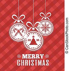 εικόνα , διακοπές , year., μικροβιοφορέας , κάρτα , εύθυμος , καινούργιος , xριστούγεννα , ball., ευτυχισμένος