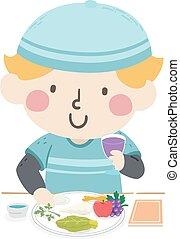 εικόνα , εβραϊκό πάσχα , αγόρι , πιάτο , παιδί , τροφή