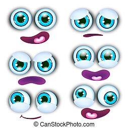 εικόνα , εκφράσεις , μικροβιοφορέας , διάφορος , αντικρύζω , γελοιογραφία
