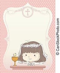εικόνα , επαφή , πρόσκληση , κορίτσι , πρώτα , παιδί