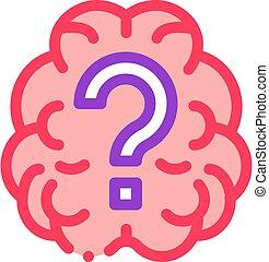 εικόνα , ερώτηση , εικόνα , εγκέφαλοs , περίγραμμα , σημαδεύω