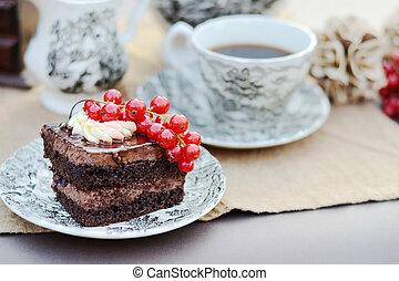 εικόνα , καφέs , γλυκός , closeup , ζυμαρικά , υπηρέτησα