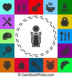 εικόνα , κορίτσι , σερβιτόρα , γκαρσόνι , περίγραμμα