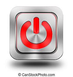 εικόνα , κουμπί , on-off, αλουμίνιο , λείος