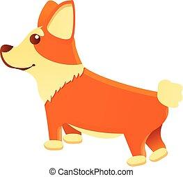 εικόνα , κόργκι , γελοιογραφία , αναμονή , ρυθμός , σκύλοs