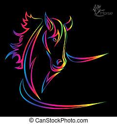 εικόνα , μικροβιοφορέας , άλογο