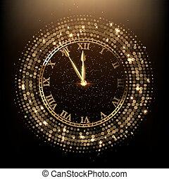 εικόνα , μικροβιοφορέας , χρυσαφένιος , λαμπερός , ρολόι