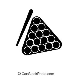 εικόνα , μπιλιάρδο , απομονωμένος , σήμα , μικροβιοφορέας , μαύρο φόντο , εικόνα